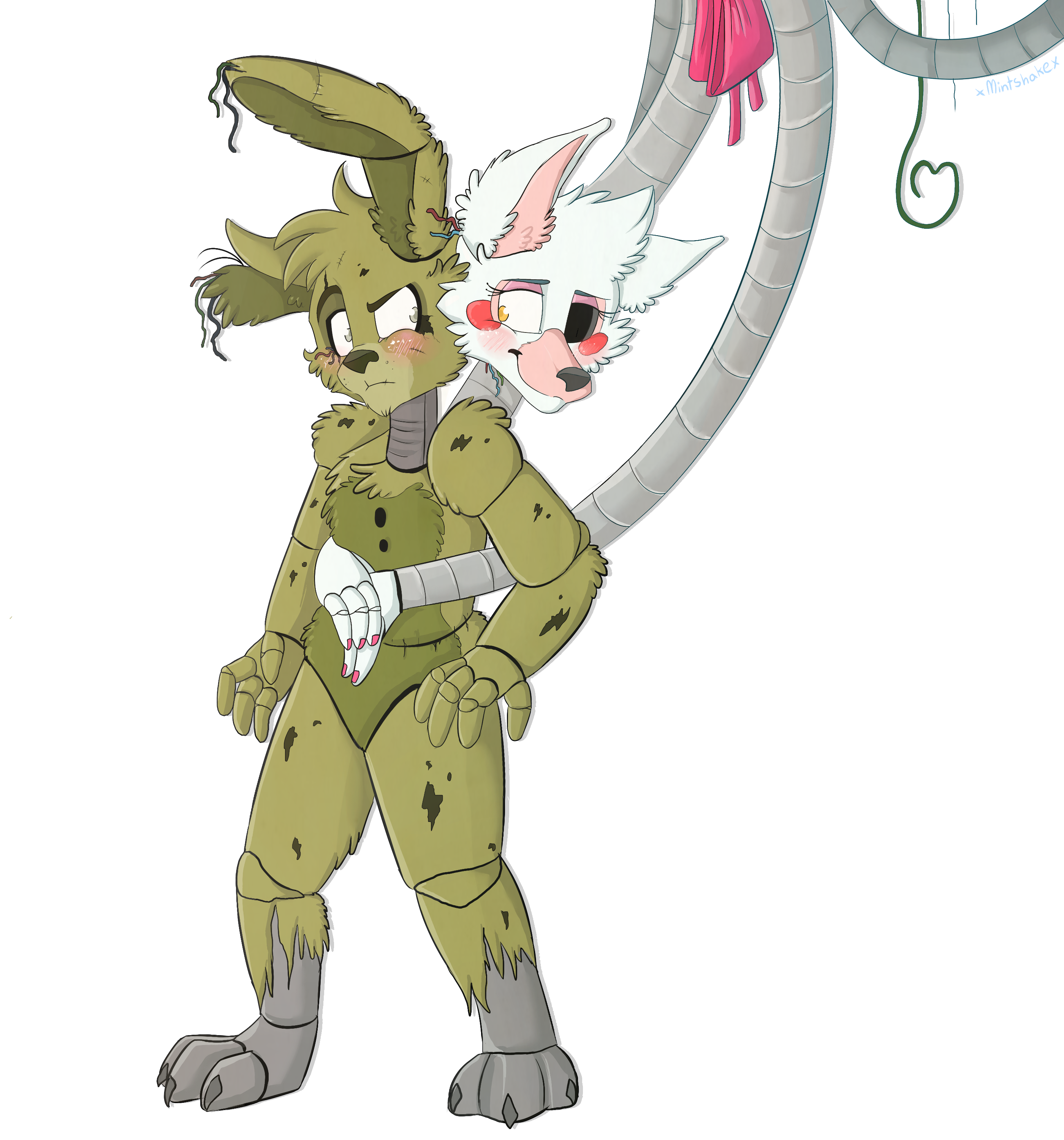 E621 absurd res animatronic anthro canine duo female five nights at