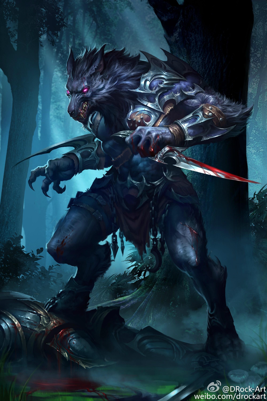 #745500: drock-art - e621 Werewolf Warrior Art