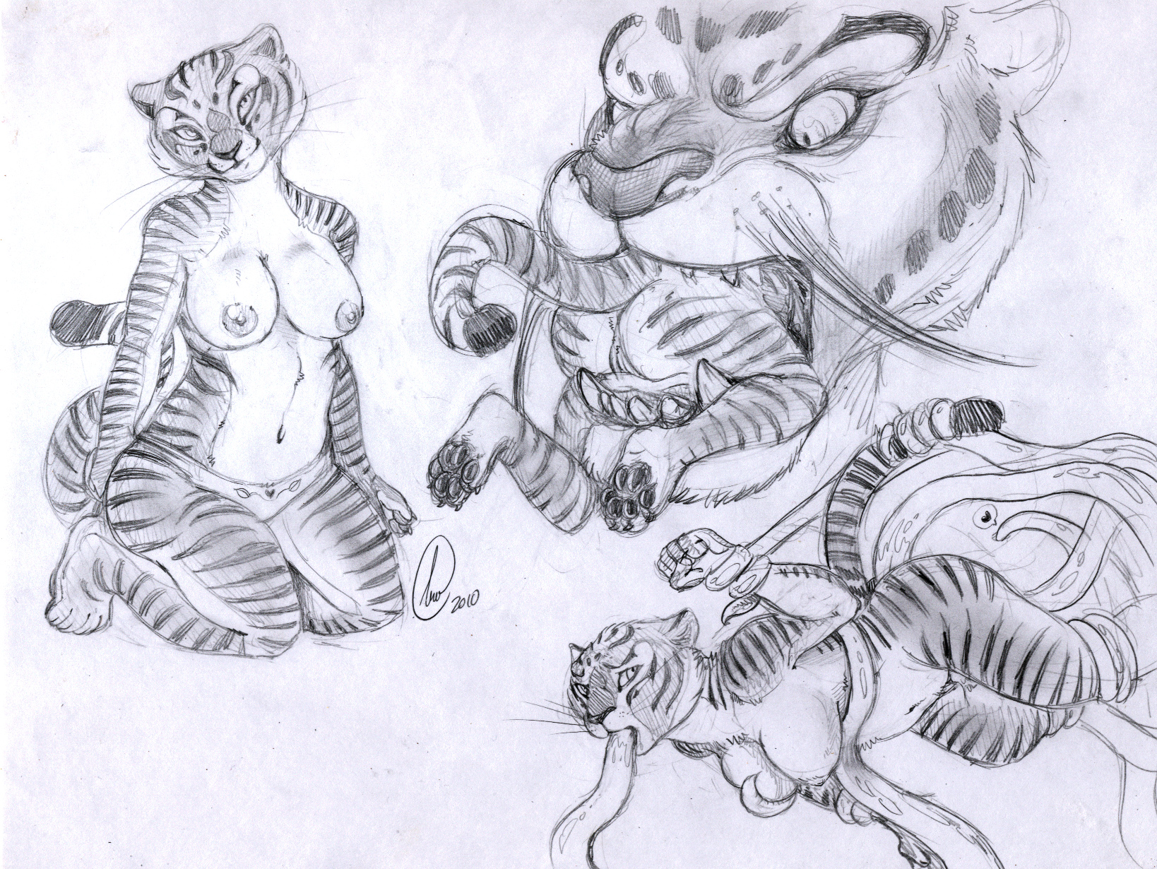 e621 anthro body_in_mouth breasts clothed clothing dreamworks duo feline female gravewalker greyscale head_first hi_res kung_fu_panda leopard mammal master_tigress monochrome multiple_images nude panties pencil_(artwork) pussy sketch_page snow_leopard soft_vore solo tai_lung tentacles tiger topless traditional_media_(artwork) underwear vore