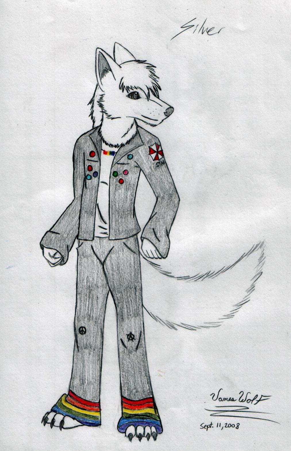 Anthro Arctic Wolf #27982: unknown_artist...