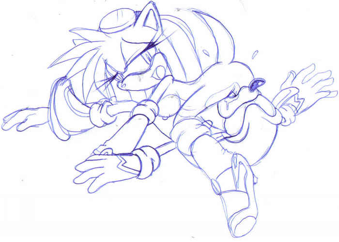 e621 69_position anthro becky_the_hedgehog blue_and_white breasts duo fan_character female male male/female mighty_the_armadillo monochrome oral pussy sex simple_background sketch sonic_(series) unknown_artist white_background