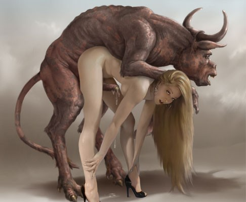 Women having sex with a bull