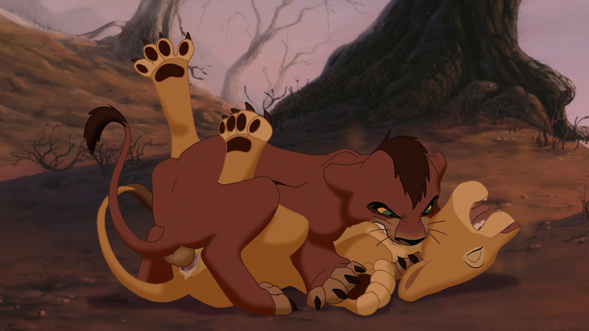 Бледном порно картинки король лев