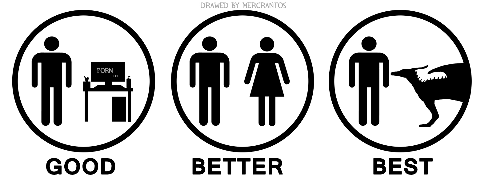 e621 ambiguous_gender black_and_white circle computer desk dragon english_text female group hi_res human human_focus humor lol_comments male mammal mercrantos monochrome scalie silhouette simple_background standing stick_figure text the_truth white_background
