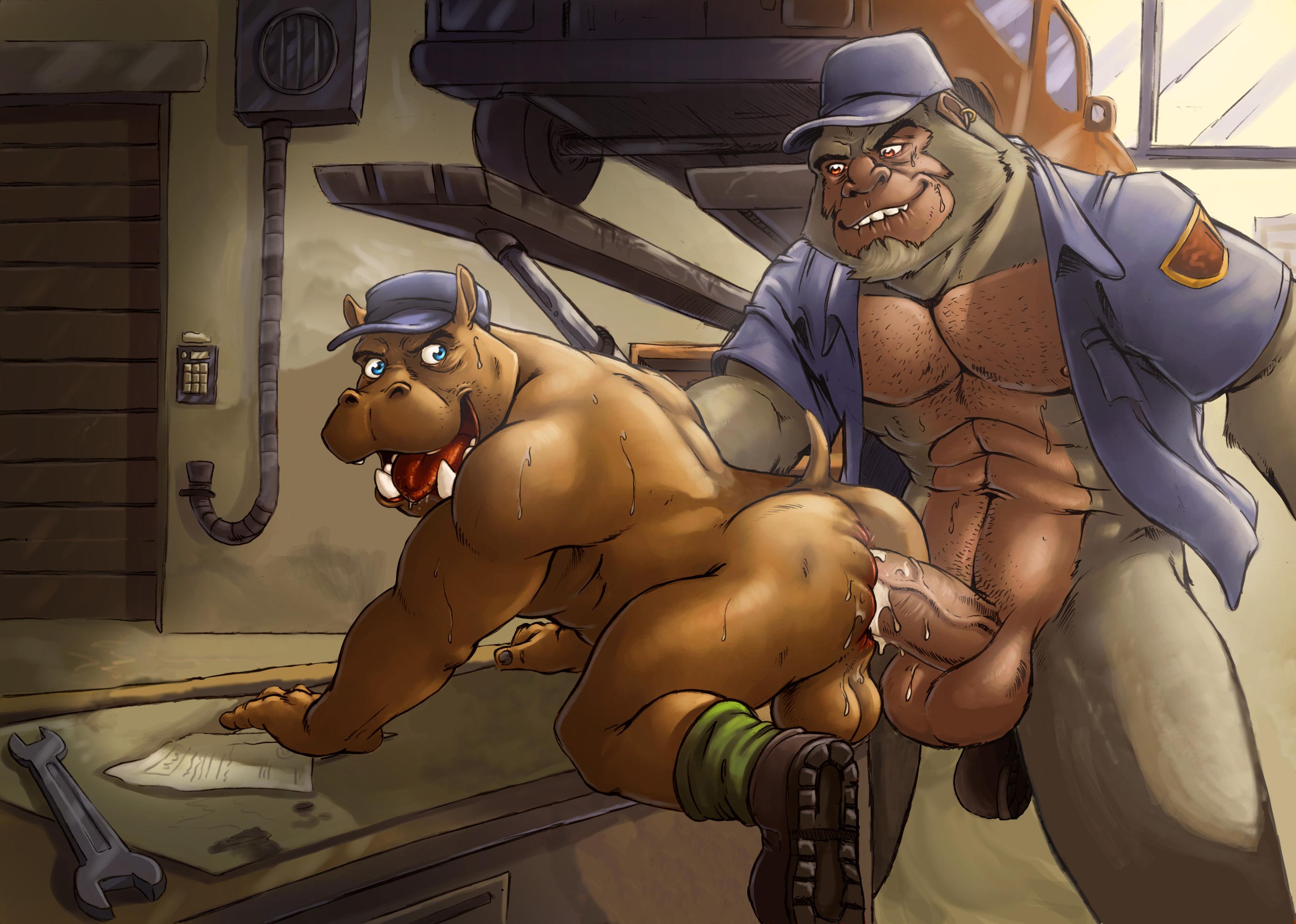 Gorilla man penetration