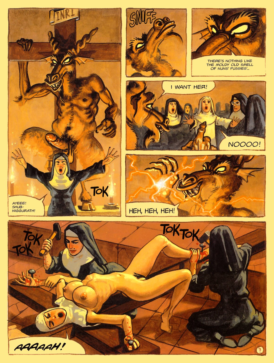 Nuns in hell sex toons