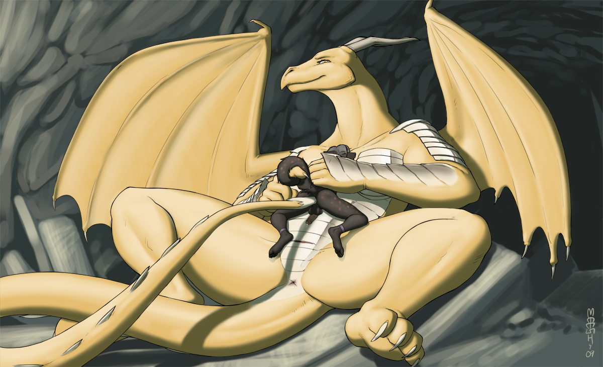Female domination dragon