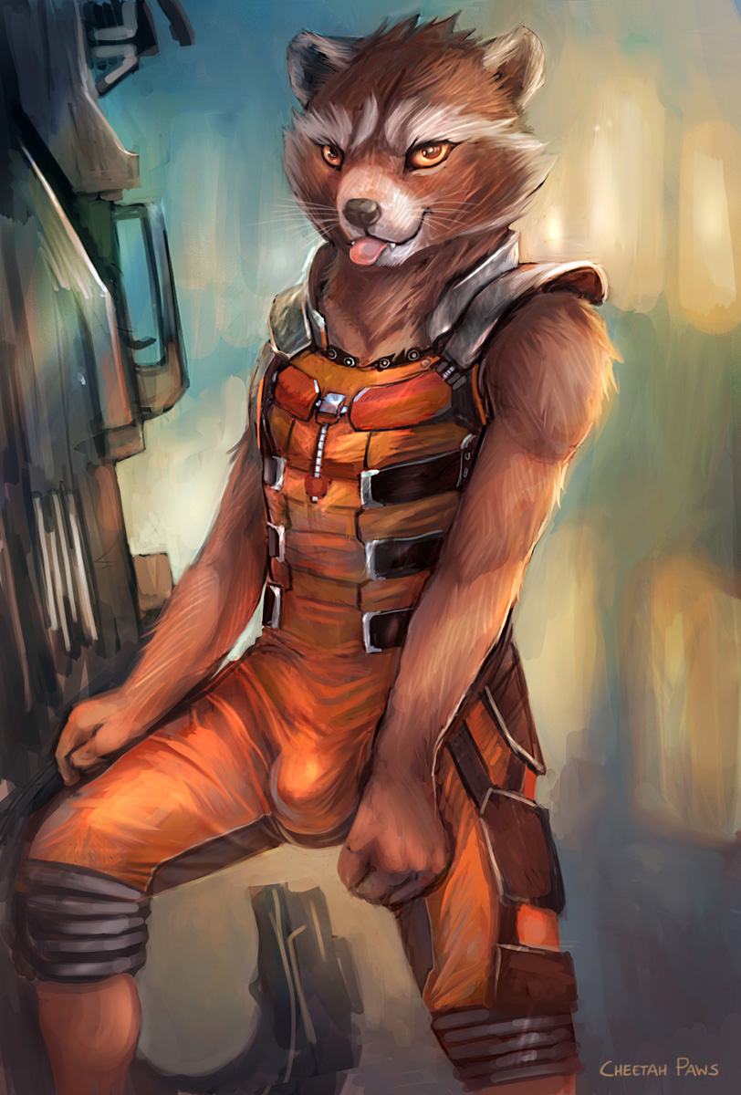 You've linked images from e621/FurAffinity/Inkbunny without direct links, Here are those links!  Link | Image Name: None | Artist: cheetahpaws | Rating: Questionable | Imgur Mirror  Tags: male 2014 anthro bulge cheetahpaws clothed clothing fully_clothed guardians_of_the_galaxy gun hi_res looking_at_viewer mammal marvel procyonid raccoon ranged_weapon rocket_raccoon solo spandex standing suit tight_clothing tongue tongue_out weapon yellow_eyes    Bot Created By Hidoni, Have I made an error? Message creator | Blacklist yourself | How to properly give direct links | If this comment goes below 0 karma, It will be deleted