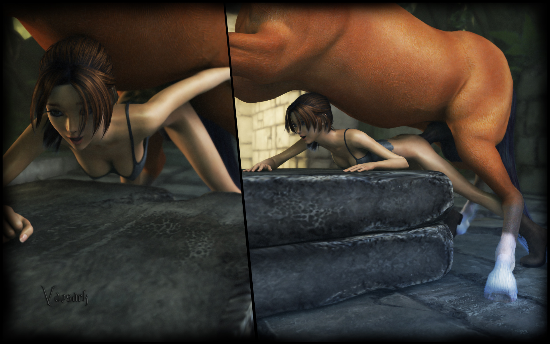 lara croft horse sex