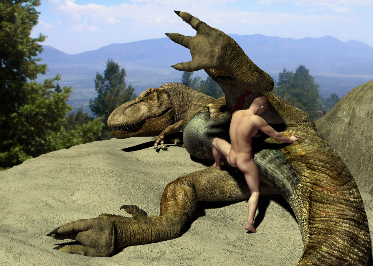 e621 3d_(artwork) bestiality digital_media_(artwork) dinosaur duo female feral human human_on_feral interspecies larger_female male male/female male_on_feral mammal scalie sex size_difference small_dom_big_sub smaller_human smaller_male theropod tyrannosaurus_rex wooky