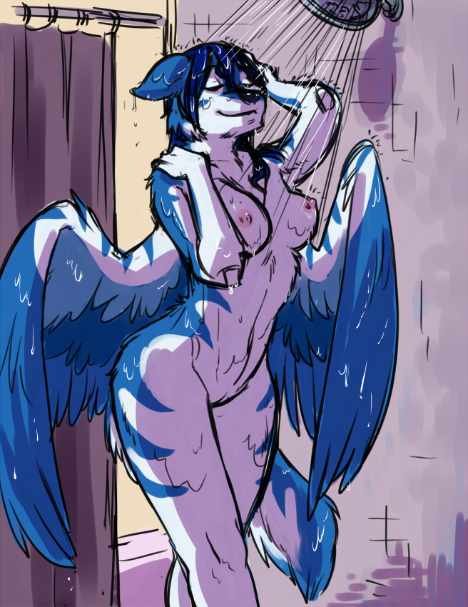 Furry winged wolf tala creampie in space 3