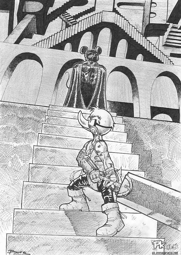 e621 anime anthro berserk clothed clothing comic cosplay disney donald_duck duo escher eye_patch eyewear goggles greyscale griffith guts_(character) hatching_(technique) holding_object holding_weapon low-angle_view male manga melee_weapon mickey_mouse monochrome parody sword traditional_media_(artwork) unknown_artist weapon
