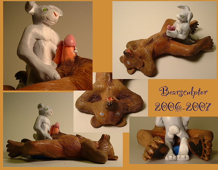 Sexual connatation bear statues