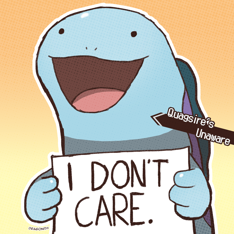 e621 ambiguous_gender dragonith english_text feral nintendo open_mouth pokémon pokéshaming quagsire reaction_image sign simple_background smile solo text video_games