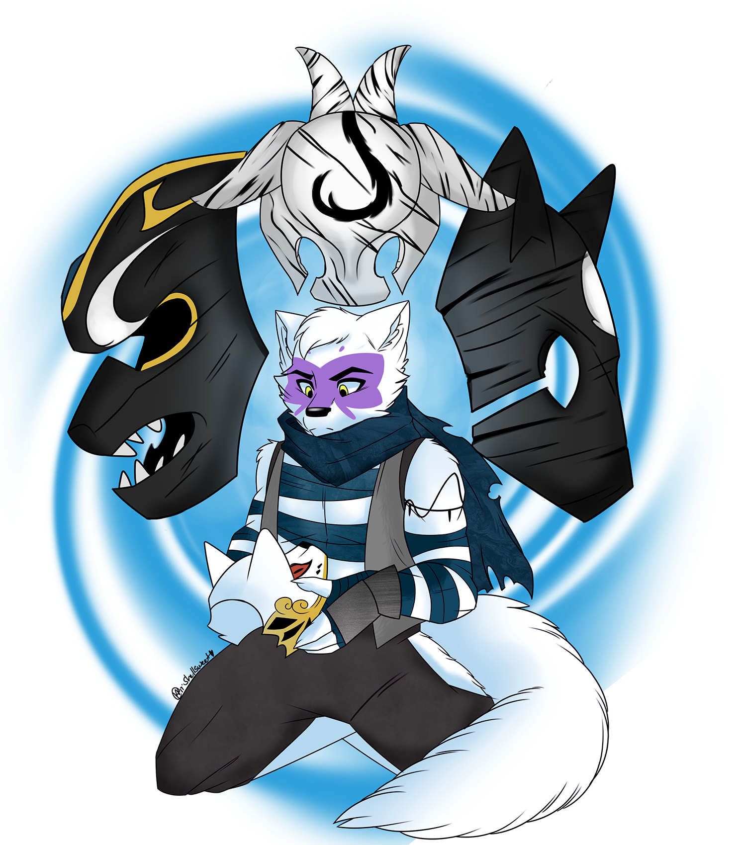 e621 alopex anthro arctic_fox canine clothed clothing fox fur hi_res male mammal shellsweet silver_(alopex) simple_background teenage_mutant_ninja_turtles white_fur yellow_eyes