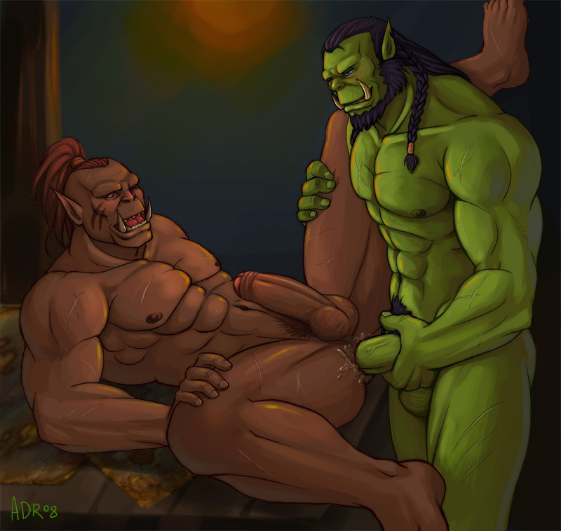 Порно гей орки