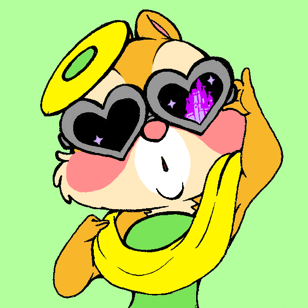 e621 2017 absurd_res anthro blush chipmunk clarice clothing digital_media_(artwork) dress eyewear female fur green_background hi_res holly_(plant) looking_at_viewer mammal pink_nose plant rave_(pixiv_11020113) rodent simple_background solo sunglasses tan_fur