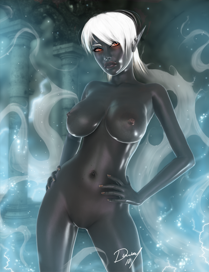 Naked Dark Elf 113