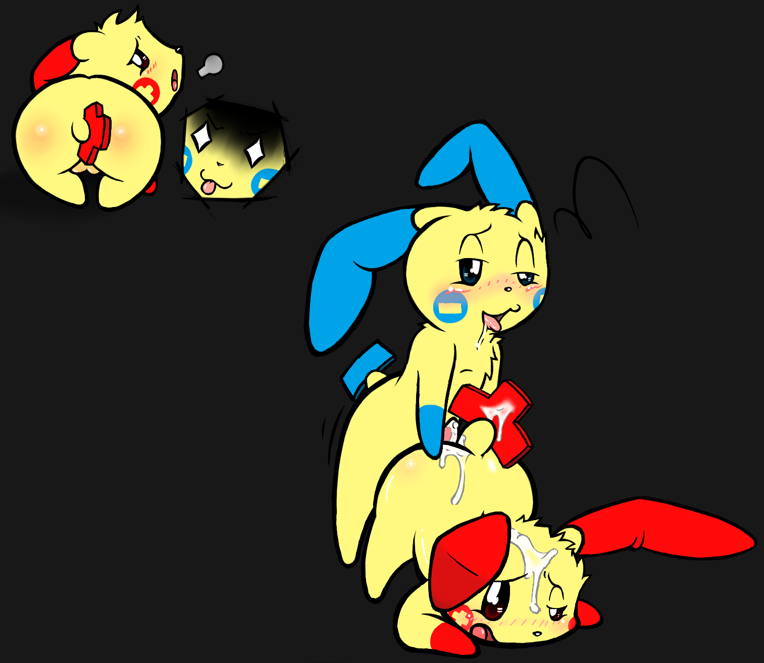 Plusle and minun Etsy