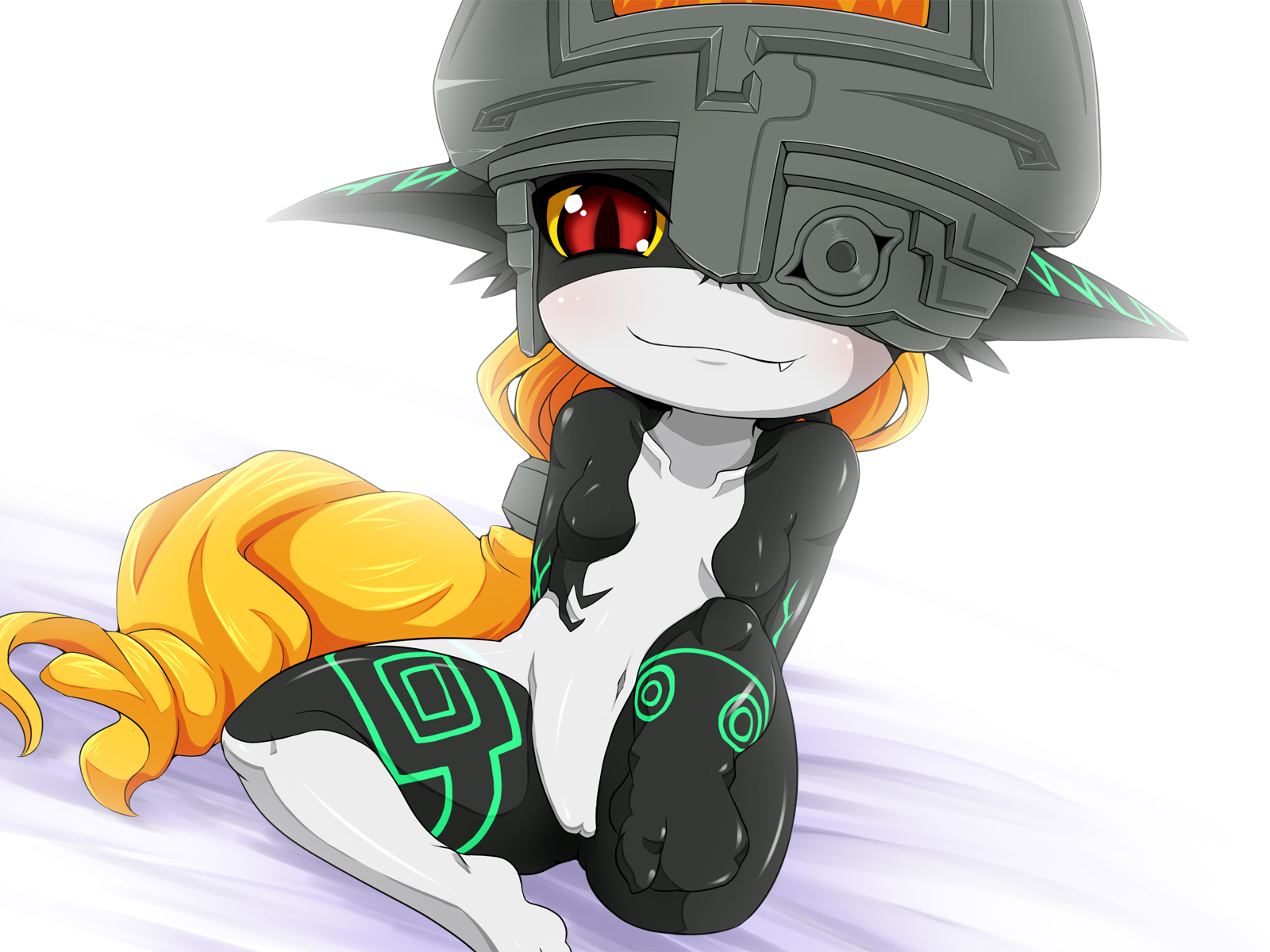 e621 4:3 blush breasts chloroplast female hi_res humanoid looking_at_viewer midna nintendo not_furry nude pussy red_eyes simple_background sitting solo the_legend_of_zelda twili twilight_princess video_games