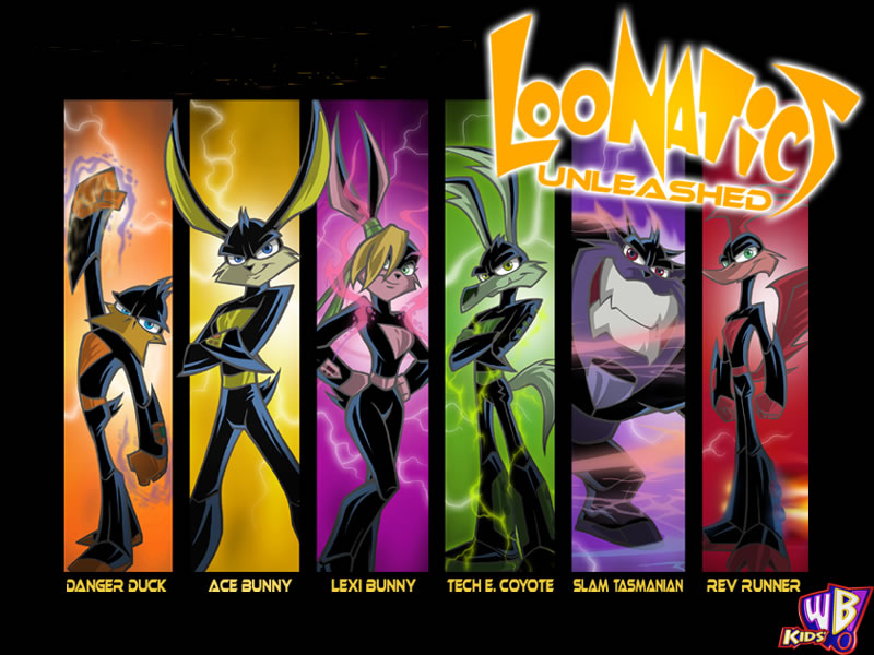 e621 ace_bunny anthro avian bird canine coyote danger_duck duck female group lagomorph lexi_bunny loonatics_unleashed looney_tunes male mammal marsupial official_art rabbit rev_runner roadrunner slam_tasmanian tasmanian_devil tech_e_coyote warner_brothers