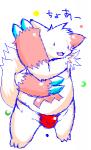 bulge chubby claws fur_markings japanese_text kemono male nintendo open_mouth pokémon simple_background solo teeth text underwear video_games yami zangoose   Rating: Questionable  Score: 0  User: terminal11  Date: April 23, 2014