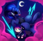 2015 clothing costume crossover cute duo earth_pony equine eye_patch eyewear female feral fish friendship_is_magic halloween holidays horn horse lily_longsocks looking_at_viewer magic mammal marenlicious marine melee_weapon monster moon my_little_pony polearm pony powerhouse princess_luna_(mlp) spear telekinesis underhoof undertale undyne video_games weapon winged_unicorn wings young  Rating: Safe Score: 9 User: Burgerpants Date: November 02, 2015