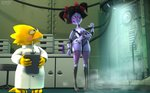 3d_(artwork) alphys android animal_humanoid arachnid arachnid_humanoid arthropod arthropod_humanoid black_hair breasts cable carbon_fiber clothing coat crossed_arms device digital_media_(artwork) dildo duo eyewear female glasses hair hi_res humanoid inside lab_coat laboratory leetspeak lizard lizard_humanoid machine muffet owo_sfm pink_eyes pointing_at_object reptile reptile_humanoid robot robot_humanoid scalie scalie_humanoid sex_toy smoke source_filmmaker spider spider_humanoid topwear undertale video_games widescreen
