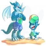 beach cute dessert digimon dragon exveemon food ice_cream male seaside veemon weremagnus young  Rating: Safe Score: 1 User: The_Gazi_Pack Date: August 03, 2015