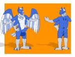 anthro avian backsack balls big_balls big_penis bird border canine claws coyote erection feathered_wings feathers front_view hawk herm hybrid intersex knot lugus mal maleherm mammal multi_arm multi_limb orange_background penis polydactyly rear_view simple_background six_fingers standing talons thick_penis wings  Rating: Explicit Score: 1 User: mallowsal Date: April 26, 2016