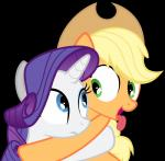 2014 absurd_res alpha_channel applejack_(mlp) blonde_hair blue_eyes duo equine eye_contact female feral freckles friendship_is_magic fur green_eyes hair hi_res horn horse magister39 mammal my_little_pony orange_fur plain_background pony purple_hair rarity_(mlp) tongue tongue_out transparent_background unicorn white_fur   Rating: Safe  Score: 15  User: Robinebra  Date: July 29, 2014