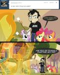 amber_eyes apple_bloom_(mlp) arson black_hair bow clothed clothing comic crossover cutie_mark_crusaders_(mlp) dan dan_vs english_text equine female fire friendship_is_magic fur green_eyes hair horn horse human male mammal marshmallow mixermike622 my_little_pony orange_fur pegasus pony purple_eyes purple_hair red_hair scootaloo_(mlp) sweetie_belle_(mlp) text tumblr two_tone_hair unicorn white_fur wings yellow_fur   Rating: Safe  Score: 6  User: anthroking  Date: February 14, 2014