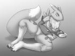 2014 anthro areola big_breasts breasts canine digimon erect_nipples female fox frown looking_at_viewer mammal navel nipples nude pussy renamon schwoo solo   Rating: Explicit  Score: 11  User: Robinebra  Date: January 27, 2014