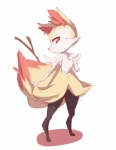 black_fur braixen canine eyelashes fennec fox fur looking_at_viewer mammal nintendo orange_eyes orange_fur pokémon simple_background solo standing stick video_games white_background white_fur yellow_fur youki  Rating: Safe Score: 2 User: DeltaFlame Date: October 10, 2015
