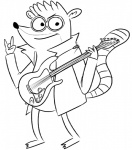 anthro cartoon_network clothed clothing devil_horns fur guitar line_art looking_at_viewer male mammal monochrome musical_instrument raccoon regular_show rigby rigby_(regular_show) sheriff_(artist) simple_background solo standing white_background  Rating: Safe Score: 0 User: SwiperTheFox Date: November 10, 2015