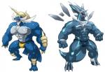 abs anthro biceps big_muscles bulge clothing dialga dragon duo horn hyper hyper_muscles legendary_pokémon maldu male mammal muscles nintendo nipples open_mouth pecs pokémon red_eyes samurott scalie teeth tongue underwear video_games  Rating: Questionable Score: 7 User: N7 Date: July 30, 2015