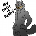 anthro balls canine english_text fur grey_fur male mammal neodokuro nipple_piercing nipples nude pencil piercing plain_background red_eyes sheath solo text trollface what white_background wolf   Rating: Explicit  Score: -8  User: Der_Traubenfuchs  Date: February 20, 2013