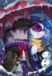 2016 black_hair blue_hair blush clothed clothing cute duo earth_pony equine eyewear female feral friendship_is_magic glasses grin hair hi_res horn horse huaineko mammal my_little_pony octavia_(mlp) outside pony scarf snow snowman unicorn vinyl_scratch_(mlp) winter  Rating: Safe Score: 11 User: Egekilde Date: February 20, 2016