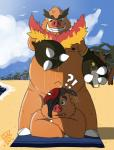 beach boar chubby emboar fire male male/male mammal nintendo nipples nude open_mouth outside overweight pig pignite pokémon porcine seaside tongue unknown_artist video_games  Rating: Questionable Score: 8 User: CG550 Date: August 28, 2015