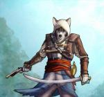 anthro anthrofied assassin's_creed assassin's_creed_iv_black_flag bask canine dog edward_kenway gun handgun holding_object holding_weapon husky male mammal melee_weapon pistol ranged_weapon solo sword video_games weapon