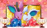 clothed clothing duo feral flower lamp maiko nidoran nidoran♀ nidoran♂ nintendo plant pokéball pokémon red_eyes video_games