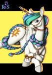2015 absurd_res equine female feral friendship_is_magic hi_res horn jewelry longinius looking_at_viewer lying mammal my_little_pony princess_celestia_(mlp) smile solo winged_unicorn wings   Rating: Questionable  Score: 16  User: Robinebra  Date: March 10, 2015