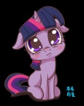 """equine female friendship_is_magic frown fur hair horn looking_at_viewer mammal mrs1989 multicolored_hair my_little_pony purple_eyes purple_fur purple_hair solo twilight_sparkle_(mlp) unicorn  Rating: Safe Score: 10 User: Nyteshade Date: March 27, 2014"""""""