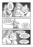 anthro avian bird canine clothing comic falco_lombardi fox fox_mccloud grey_background hug male male/male mammal nintendo rockgaara simple_background star_fox video_games white_background  Rating: Safe Score: 1 User: CosmicHare Date: May 02, 2016