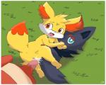 2015 anthro bisexual blue_eyes cum cum_in_pussy cum_inside female female/female fennekin fur furret grass grey_fur group group_sex looking_at_viewer male male/female nintendo open_mouth outside paws penis pichu90 pink_penis pokémon pokémon_(species) pussy red_eyes red_fur sex threesome tribadism_on_penis video_games yellow_fur zoruaRating: ExplicitScore: 5User: GranberiaDate: March 04, 2018
