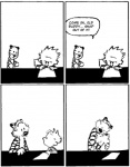 bill_watterson black_and_white calvin calvin_and_hobbes comic continuation eye_contact feline happy happy_ending hobbes hug human male monochrome sad stripes tiger toy   Rating: Safe  Score: 15  User: Sods  Date: May 27, 2011