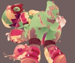 ambiguous_gender anthro armor butt chameleon female goo green_body helmet jelly lizard looking_back messy presenting presenting_hindquarters reptile scalie slime solo spiral_knights three_rings unknown_artist  Rating: Questionable Score: 17 User: christomwow Date: March 01, 2012