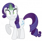 cutie_mark equine female feral friendship_is_magic hair horn insane looking_at_viewer mammal mature_female my_little_pony purple_eyes rarity_(mlp) simple_background smile solo unicorn white_background  Rating: Safe Score: 3 User: QuetzalcoatlColorado Date: January 30, 2016