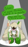 2015 anthro bandage buckteeth chesnaught claws crying dialogue elpatrixf eyes_closed female french_text marissa navel nintendo nude open_mouth pokémon pokémorph solo spotlight tears text video_games  Rating: Safe Score: 2 User: Lance_Armstrong Date: July 28, 2015