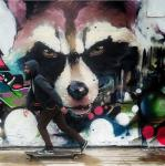 "brown_eyes clothing fangs graffiti guardians_of_the_galaxy hoodie human mammal marvel photo raccoon rocket_raccoon skateboard  Rating: Safe Score: 12 User: Woozle Date: May 07, 2015"""